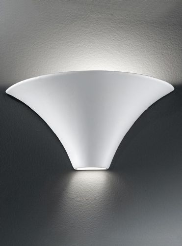 Franklite WB998 Ceramic - can be painted Wall Light (Class 2 Double Insulated)